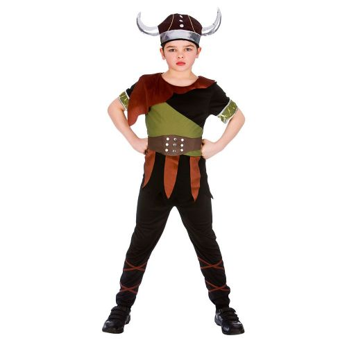 Childrens Boys Viking Costume Ancient Scandinavian Swedish Danish Fancy Dress